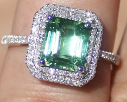 Certified Paraiba Tourmaline 3.00ct Natural Diamonds Solid 950 Platinum Rin