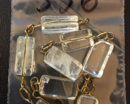 Raw Quartz  Rock Crystal bracelet,hand made   BR 356