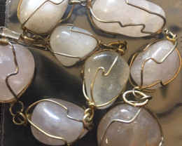 Raw Quartz  Rock Crystal bracelet,hand made   BR 361
