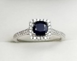 Sapphire Ring With Silver