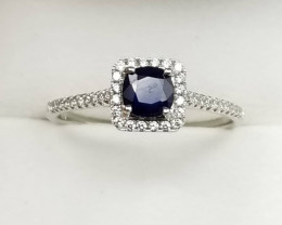Sapphire Ring With Small Zircon