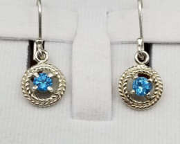 Natural Topaz Earrings 10.40 CTS
