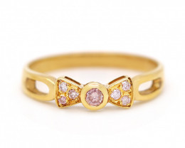 18K GOLD RING WITH TOP CLASS PINK DIAMONDS  [JR07]