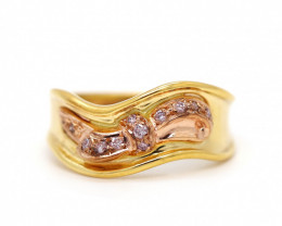 18K GOLD RING WITH TOP CLASS PINK DIAMONDS  [JR09]