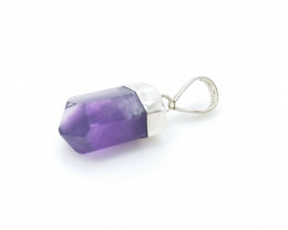 AMETHYST NATURAL STONE WITH 925 SILVER PENDANT S#11