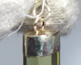 8.10 CT Natural - Unheated Yellow Kunzite Silver Cap Pendant