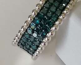 Blue Diamond Half Eternity Ring 0.50cts.