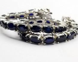 Sapphire Bracelet In 925 Silver