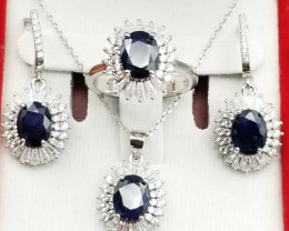 Natural Sapphire Complete Set