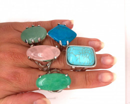 Five Gemstone Rings Re Marketer's deal BR 368