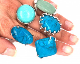 Five Gemstone Rings Re Marketer's deal BR 369