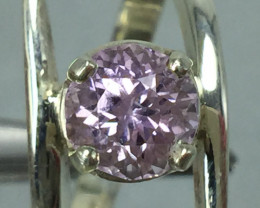 Natural Pink Kunzite 2.10 ct Transparent  Handmade 925 Sterling silver ring