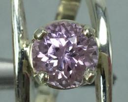 Natural Pink Kunzite 2.10 ct Transparent Handmade 925 Sterling silver ring