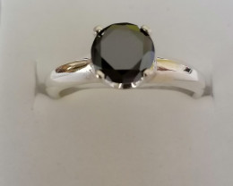 Black Diamond Solitaire Ring 1.25cts.