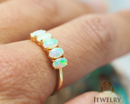 Gem Quality 14K Yellow Gold Opal Ring - OPJ 2427