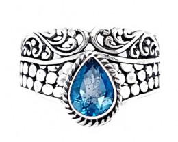 Beautiful Swiss Topaz Ring 925 Sterling Silver (JE22)