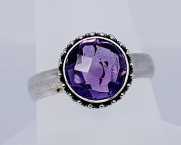 23 Carats Natural Amethyst 925 Silver Hand Made Ring