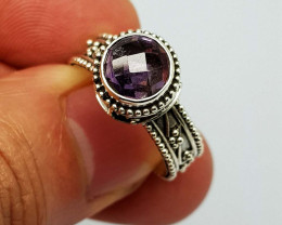 Natural Purple Amethyst 23.95 Carats 925 Silver Ring