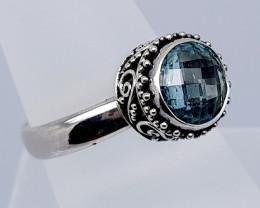 23 Carats Natural Topaz 925 Silver Hand Made Ring