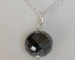 Black Diamond Bead Pendant 7.00cts.