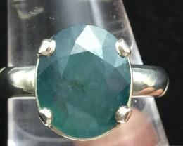 Most Rare 5.75 cts Natural Greenish blue GrandidieriteHandmade 925 Sterlin
