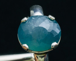 Most Rare 4.60 cts Natural Greenish blue Grandidierite Handmade 925 Sterlin