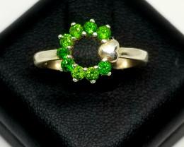 Tsavorite Garnet Natural Stunning Silver Ring