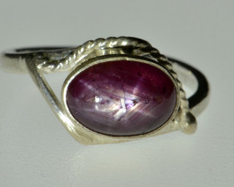 Star Ruby and Silver Ring