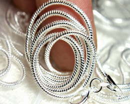 9.25 Sterling Silver Chains - 16 inches - 5 Pcs.