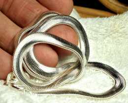18 Inch Herringbone Sterling Silver Necklace - Beautiful