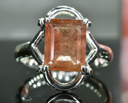24.17 Crt Natural 925 Silver Ring Size 8