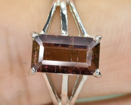 14.70 Crt Natural Tourmaline 925 Stearling  Silver Ring