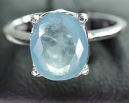 14.61 Crt Natural Grandidierite 925 Silver Ring