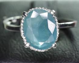 7.62 Crt Natural Grandidierite 925 Silver Ring