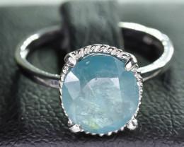 7.54 Crt Natural Grandidierite 925 Silver Ring