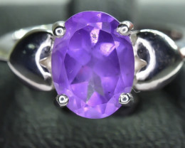 17.02 Crt Natural Amethyst 925 Silver Ring