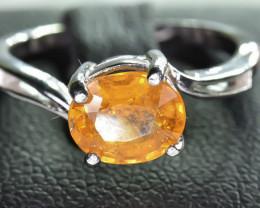 12.50 Crt Natural Spessartite 925 Silver Ring