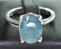 15.35 Crt Natural Grandidierite 925 Silver Ring