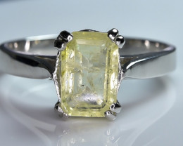 14.06 Crt Natural Tourmaline 925 Sterling Silver Ring AB (01)