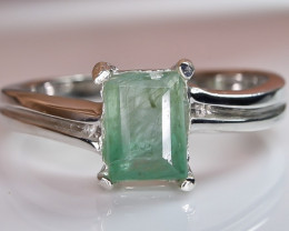 14.44 Crt Natural Emerald 925 Sterling Silver Ring AB (01)