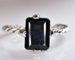 6.92 Crt Natural Tourmaline 925 Sterling Silver Ring AB (01)