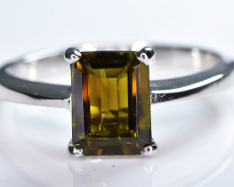 13.01 Crt Natural Tourmaline 925 Sterling Silver Ring AB (01)
