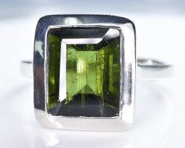 17.98 Crt Natural Tourmaline 925 Sterling Silver Ring AB (01)