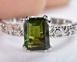 11.67 Crt Natural Tourmaline 925 Sterling Silver Ring AB (01)