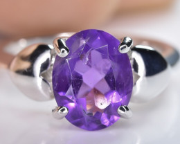 17.10 Crt Natural Amethyst 925 Sterling Silver Ring AB (01)