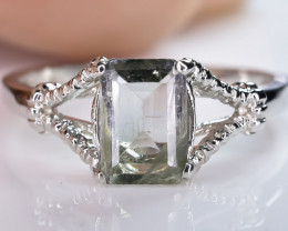 9.08 Crt Natural Tourmaline 925 Sterling Silver Ring AB (01)