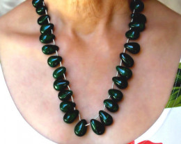"633.0 Ct. Emerald ""Tear Drop"" Necklace - Gorgeous"