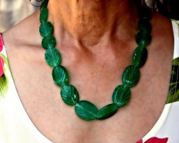 472.0 Tcw. Indian Emerald Necklace