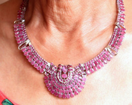 374.5 Tcw. Egypt Style Ruby Necklace - Gorgeous