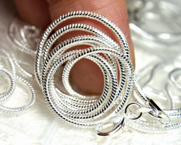925 Sterling Silver Chains - 16 inches - 5 Pcs.